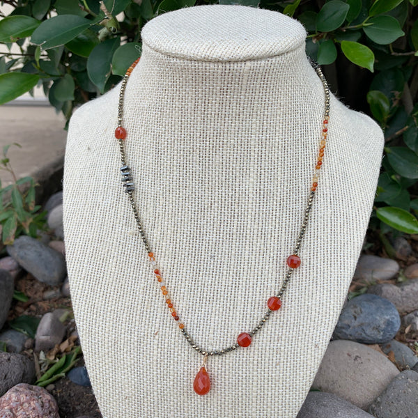 Just a Little Bit Necklace - Carnelian