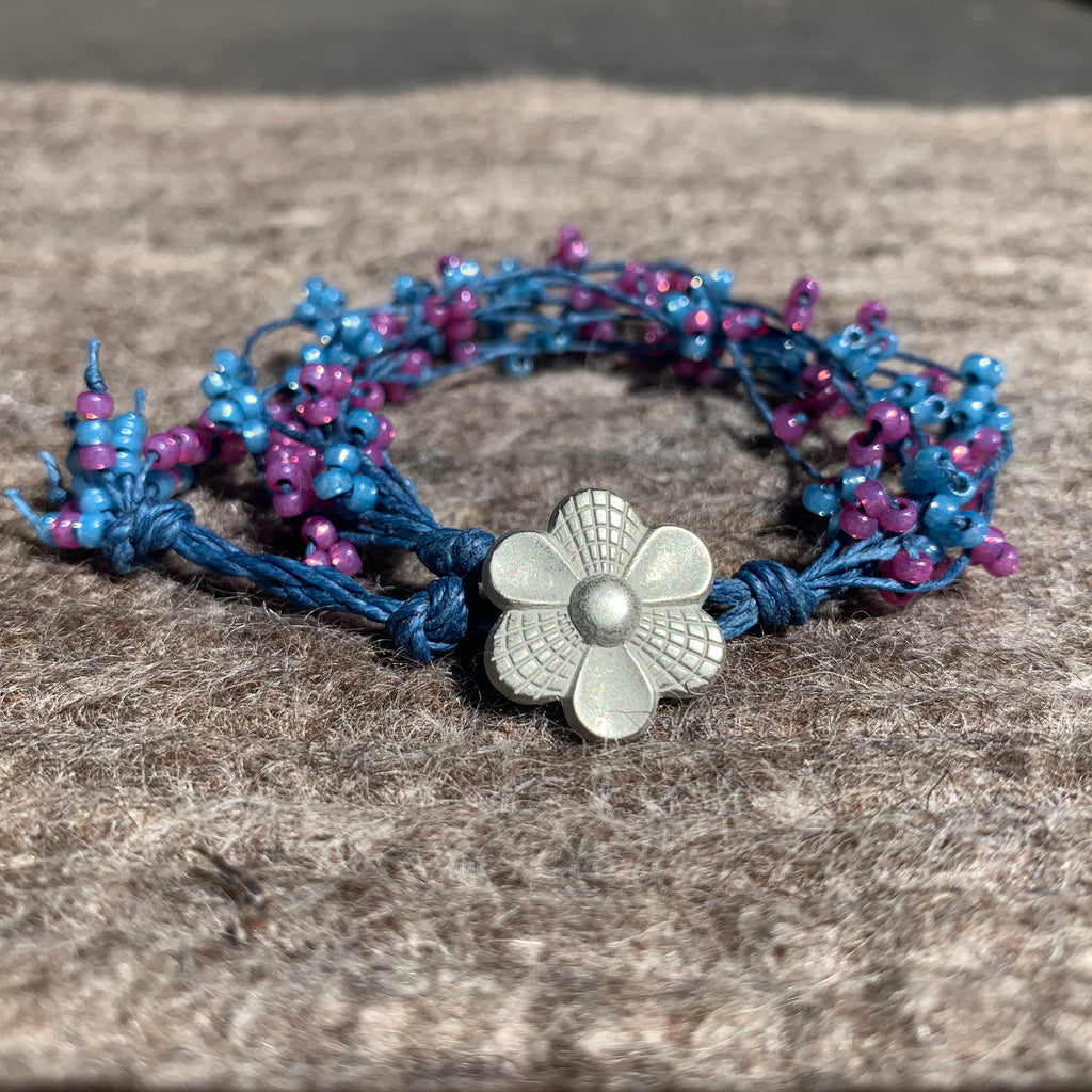Bird's Nest Bracelet - Fuscia and Blue