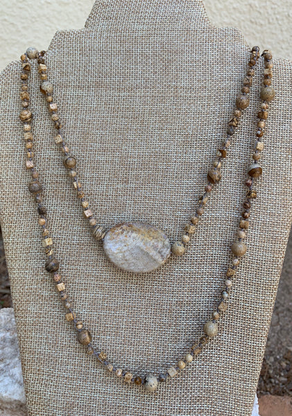Double Trouble  -Picture Jasper Necklace