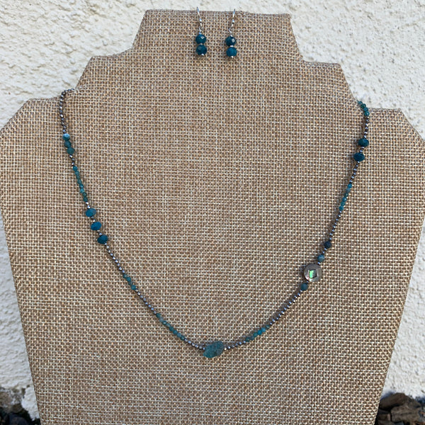 Just a Little Bit Necklace - Apatite