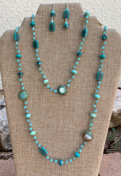 Double Trouble - Milky Turquoise Necklace