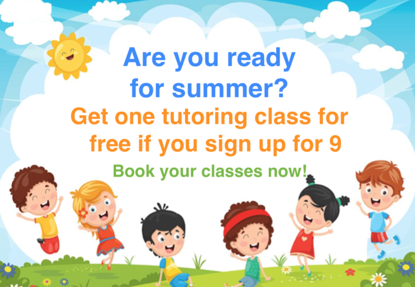 Tutoring classes this summer? Take advance of this promotion. HURRY!