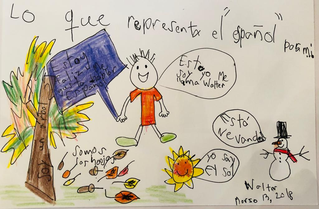 This represents Spanish for me! By Walter.