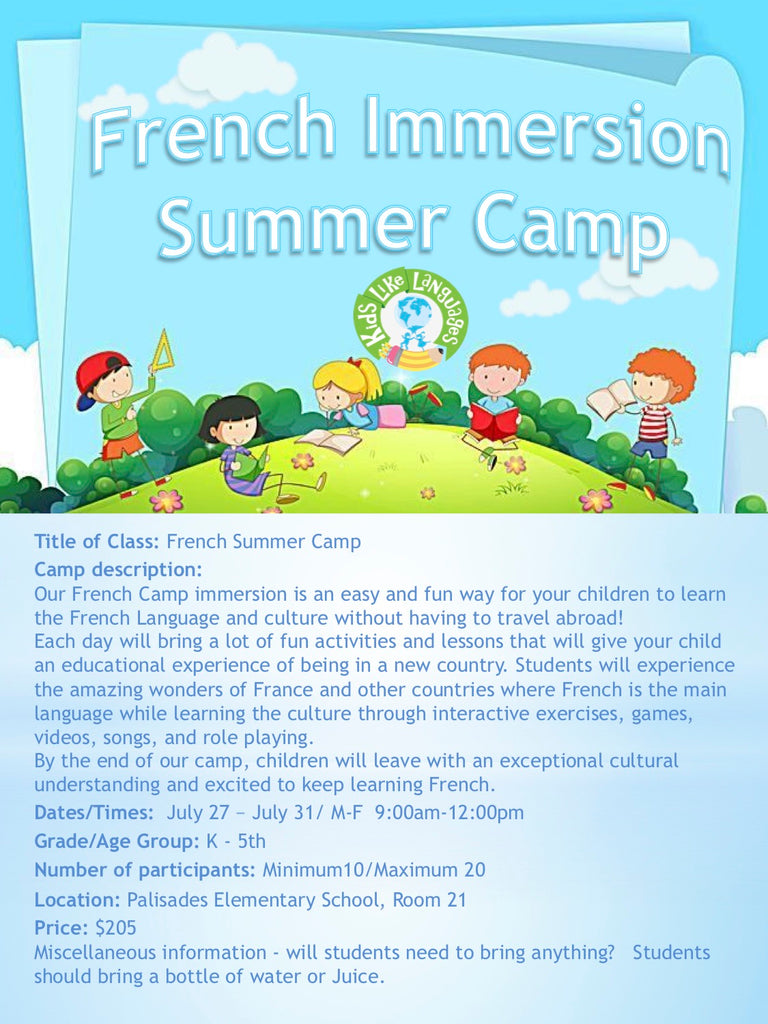 French Summer Camp at Lake Oswego