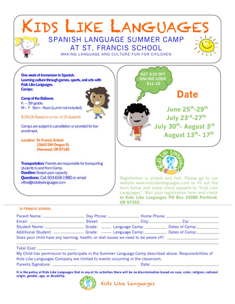 South West Summer Camp at St. Francis School.