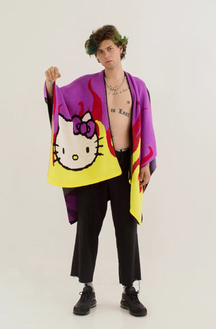 Kitty Flames Poncho // Hello Kitty Special Edition