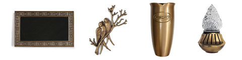 Global Bronze Vases Emblems Lights