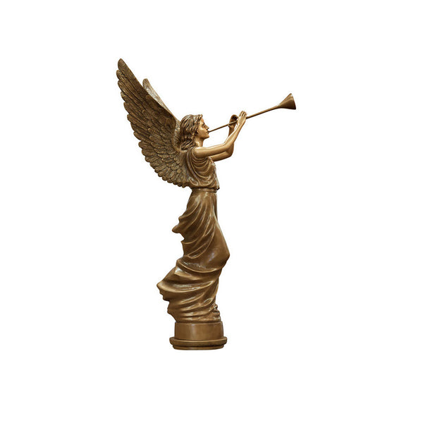 Angel Trumpeting Statue Left - Global Bronze