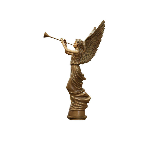 Angel Trumpeting Statue Right - Global Bronze
