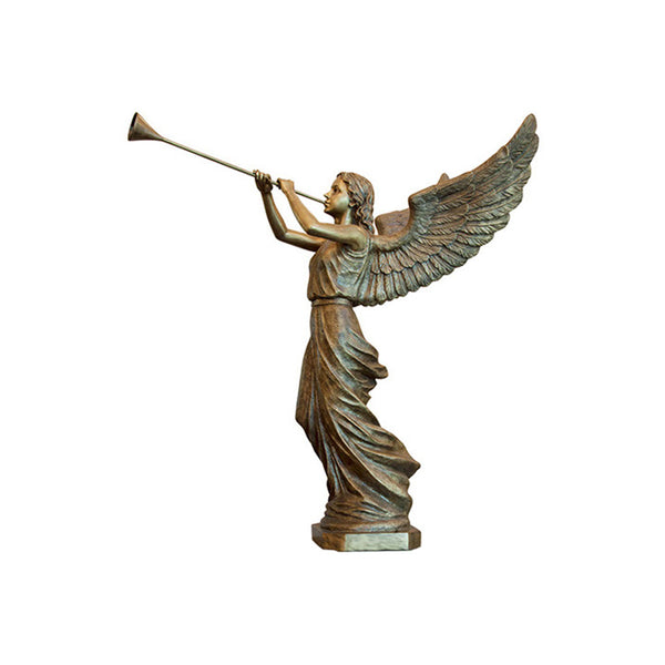 Angle Trumpeting Statue Right - Global Bronze