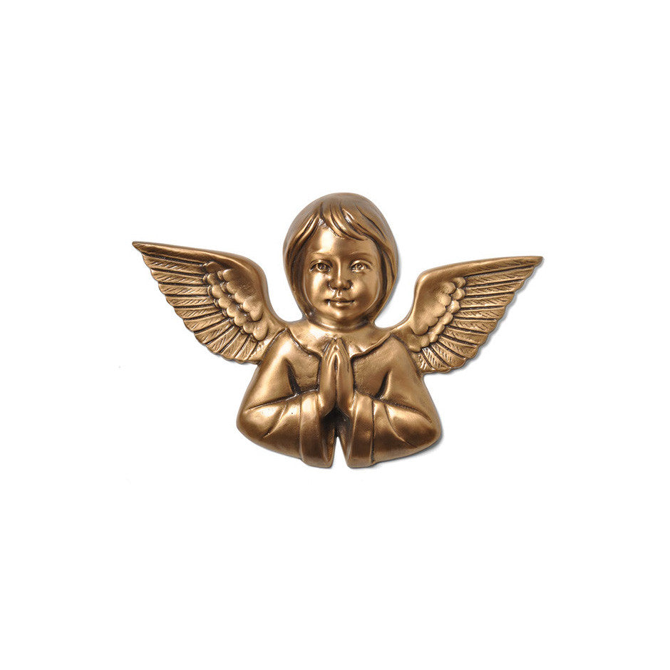 Cherub Praying Emblem - Global Bronze