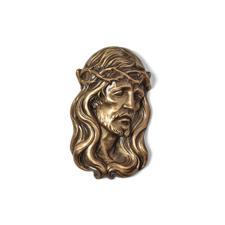 Christ With Crown of Thorns Emblem Left - Global Bronze