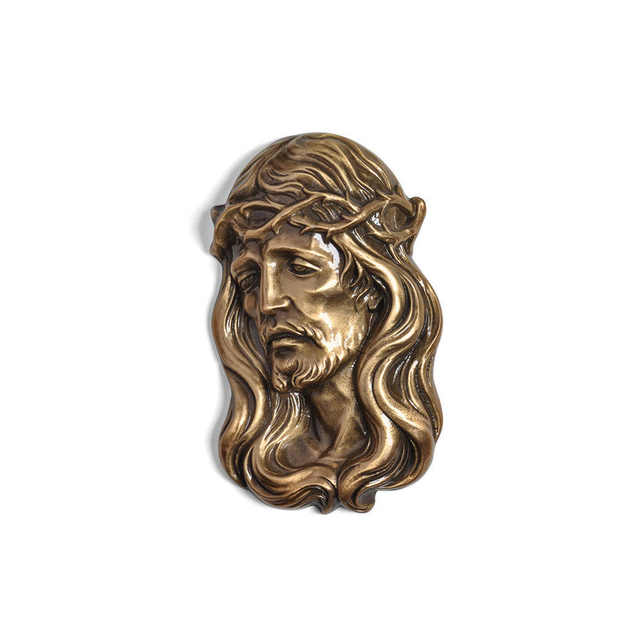 Christ With Crown of Thorns Emblem Right - Global Bronze