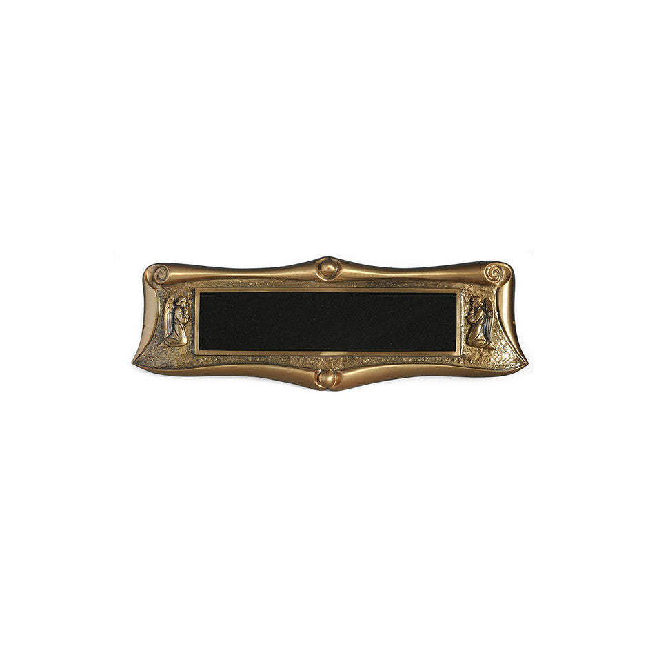 Classic Scroll E-Z Plaque - Global Bronze