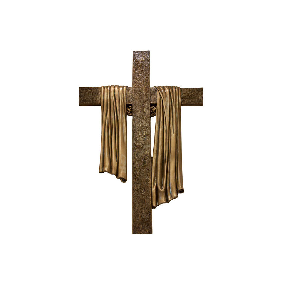 Cross with Shroud Relief - Global Bronze