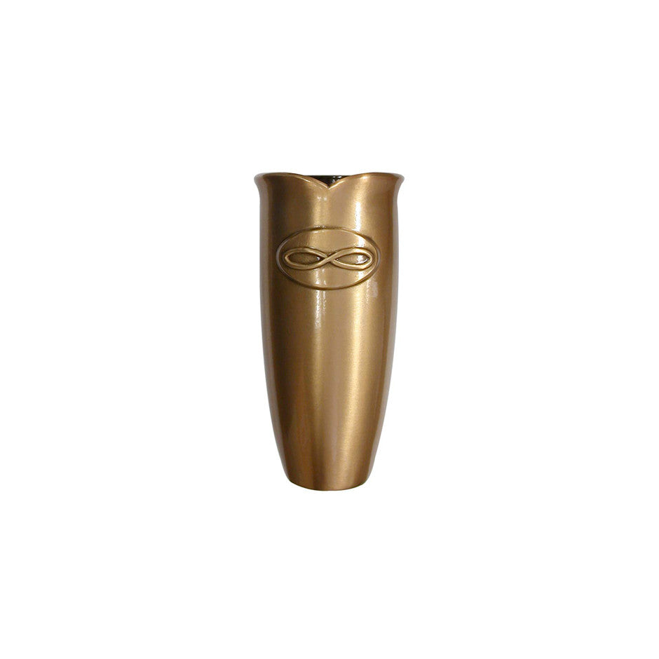 Forever Vase w/ Infinity Design - Global Bronze