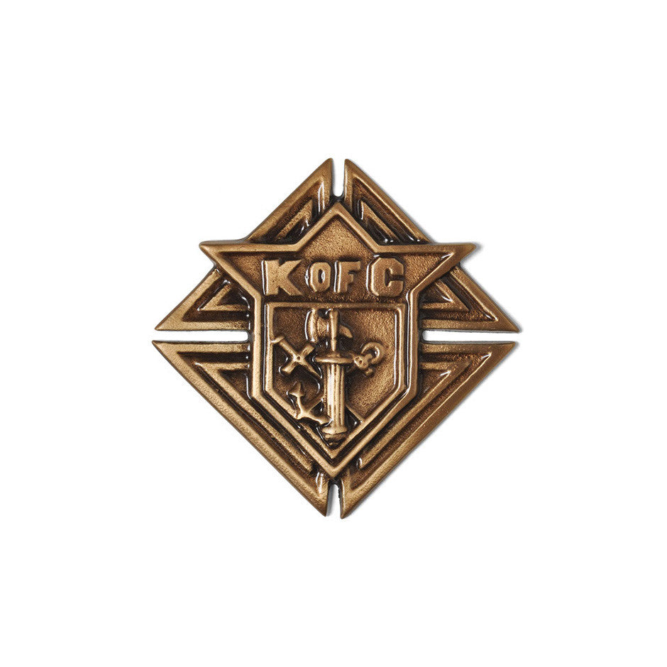 Knights Of Columbus Emblem - Global Bronze