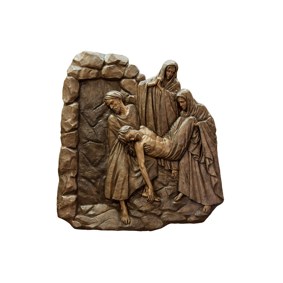 Life of Christ Relief - Jesus is Laid in the Tomb - Global Bronze