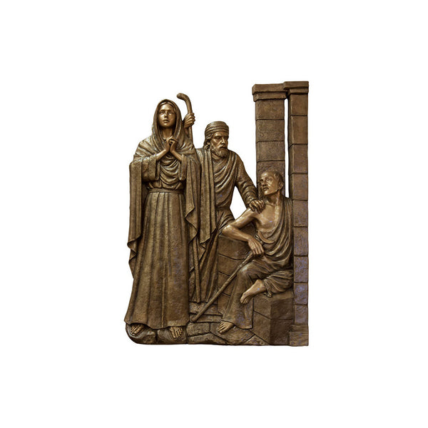 Life of Christ Relief - Jesus is Lost in Temple - Global Bronze