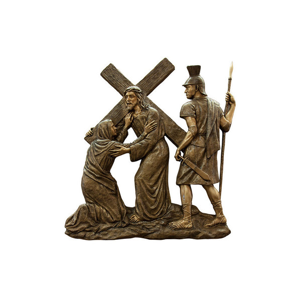 Life of Christ Relief - Mary Meets Jesus - Global Bronze