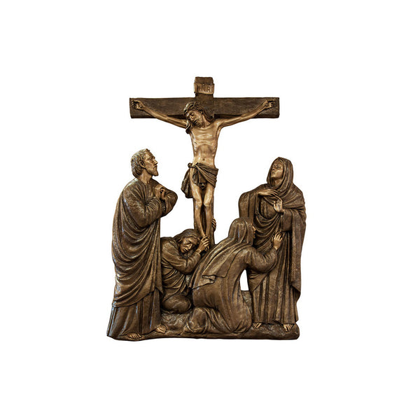 Life of Christ Relief - Mary at the Cross at Calvary - Global Bronze
