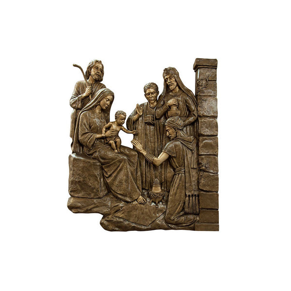 Life of Jesus Relief - Adoration of the Magi - Global Bronze