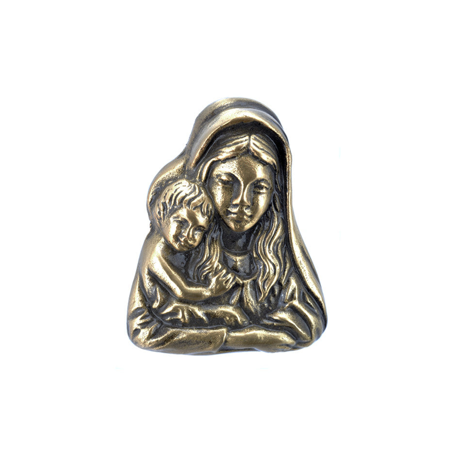 Madonna & Child Emblem - Global Bronze