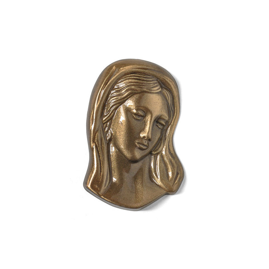 Madonna Head Emblem - Global Bronze