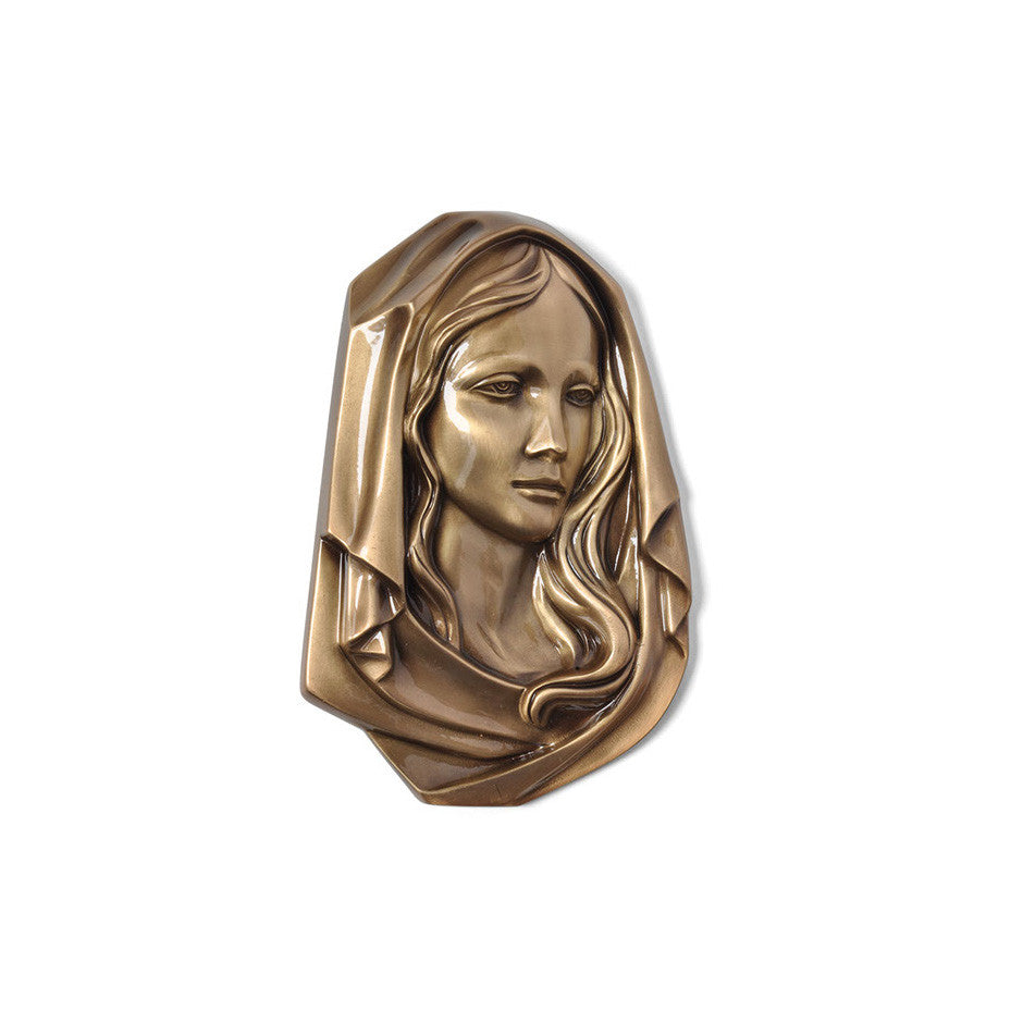 Madonna Head Emblem Left - Global Bronze