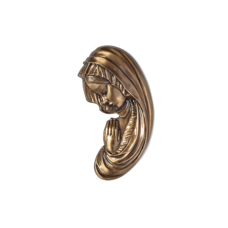 Madonna Praying Emblem Right - Global Bronze