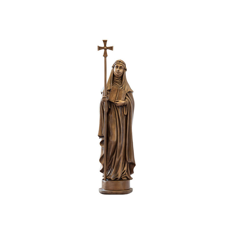 St. Bridget of Sweden Statue - Global Bronze