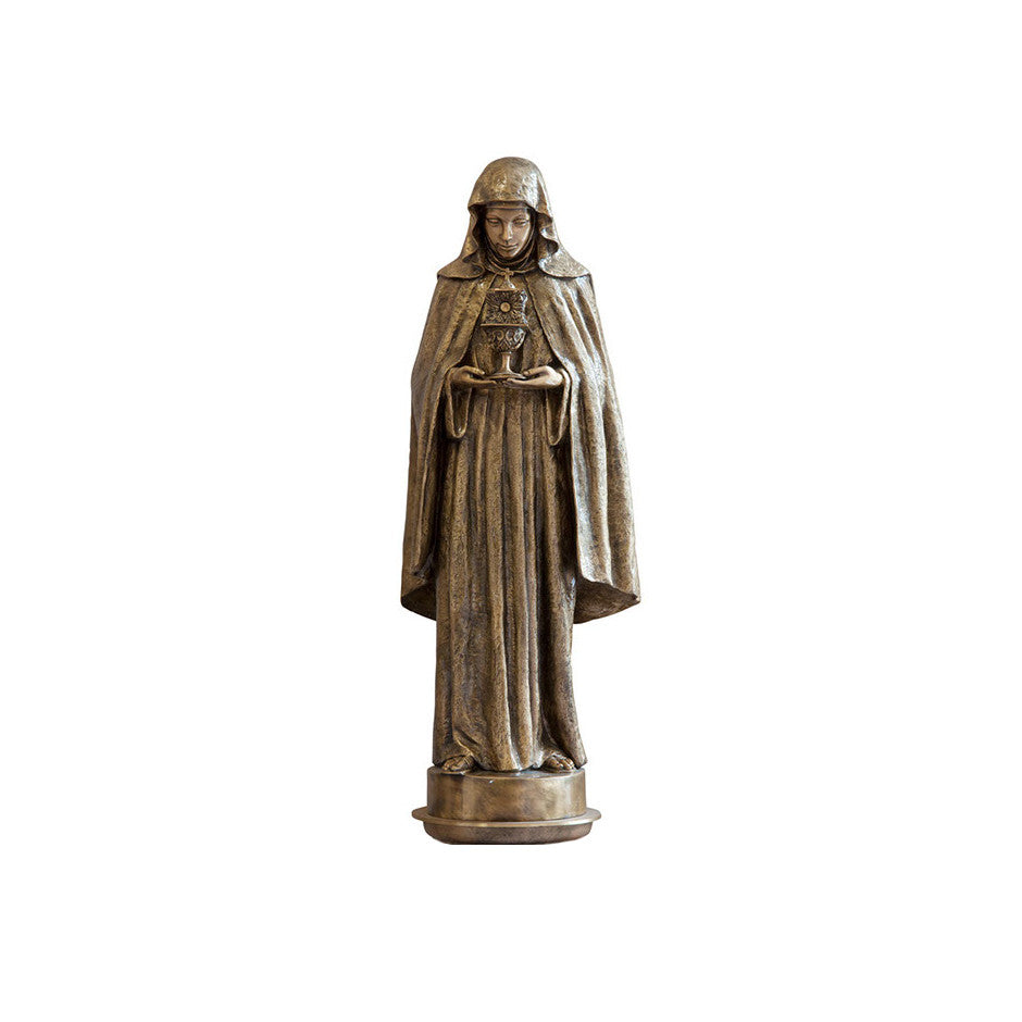 St. Chiara Statue - Global Bronze