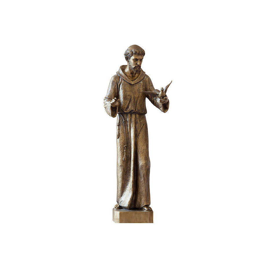 St. Francis with Dove Statue - Global Bronze