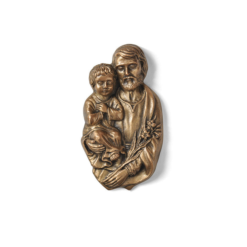 St. Joseph With Child Emblem - Global Bronze