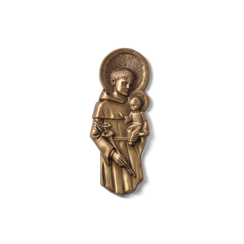 St. Anthony With Child Emblem - Global Bronze