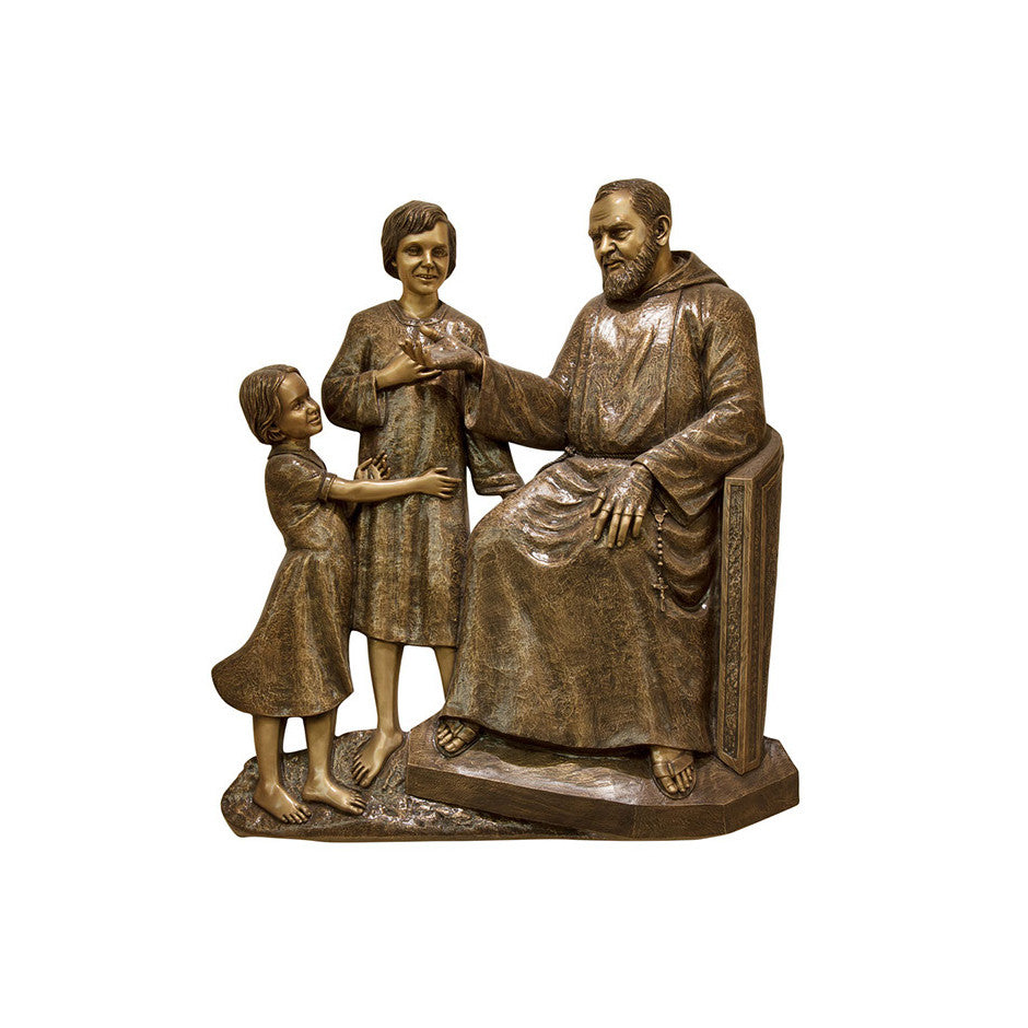 St. Padre Pio & Children Relief - Global Bronze