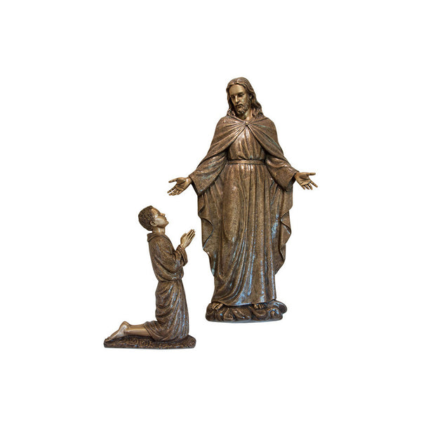 St. Padre Pio Early Visions as a Child Relief - Global Bronze