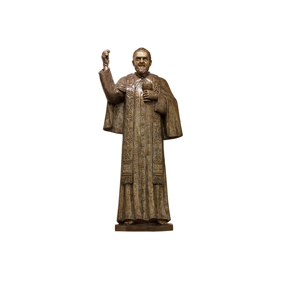 St. Padre Pio Holy Communion Relief - Global Bronze