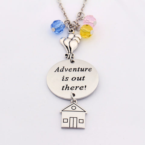 """Adventure is Out There"" Hand Stamped Necklace"