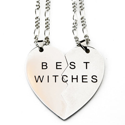 """Best Witches"" Friendship Necklace Set"