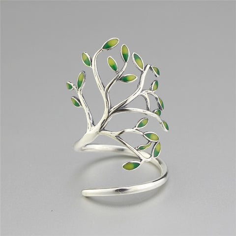 925 Sterling Silver Tree Wraped Ring