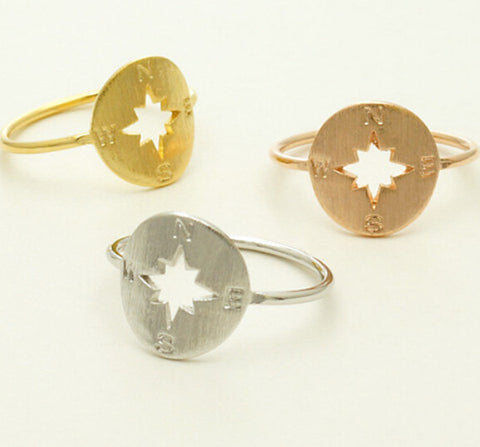"""Wanderer"" Compass Rings - 3 colors"
