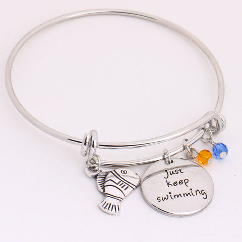 """just keep swimming"" Bracelet"