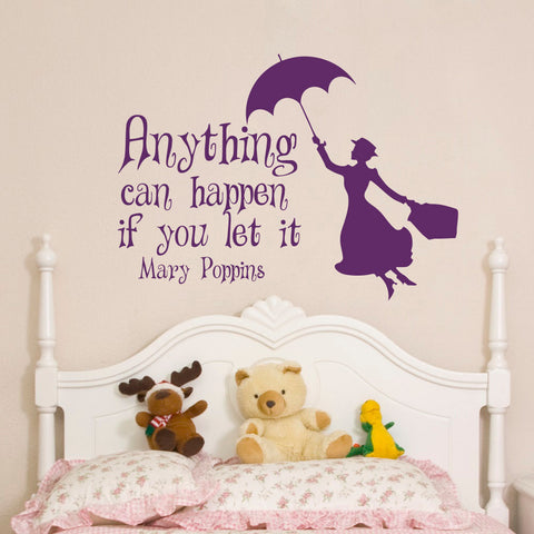"""Anything can happen"" Wall Decal"