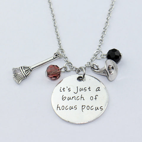 """Its just a bunch of Hocus Pocus"" Crystal Necklace"
