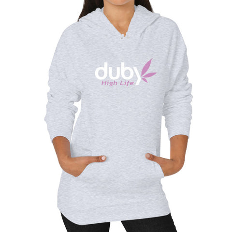 Hoodie (on woman) Heather grey Duby Swag Shop