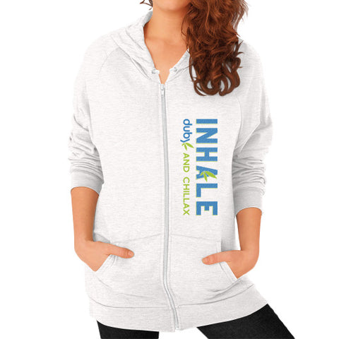 Inhale Women's Hoodie Tri-Blend Oatmeal Duby Swag Shop