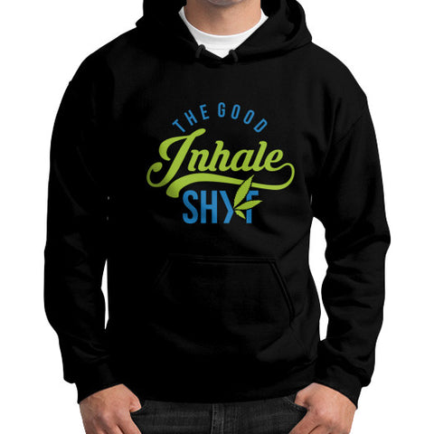 Men's Inhale Hoodie Black Duby Swag Shop