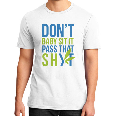 Pass That Shyt Tee White Duby Swag Shop