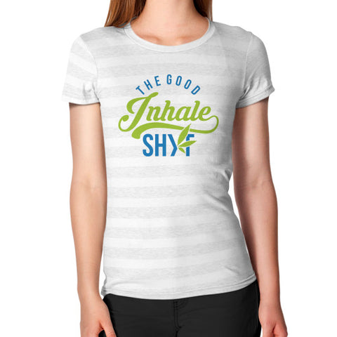 Women's Inhale Tee Ash White Stripe Duby Swag Shop